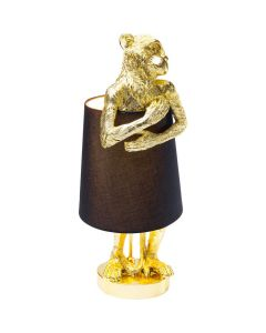 TABLE LAMP ANIMAL MONKEY GOLD BLACK
