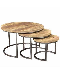 COFFEE TABLE S/3 ROUND MOODS MANGO
