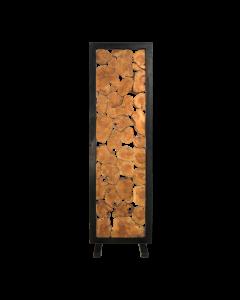 ROOMDIVIDER TEAK METAL 62x202CM