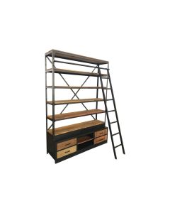 BOOKCASE KORBA BARN WOOD 160CM
